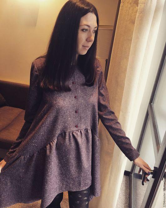 Платья ручной работы. Ярмарка Мастеров - ручная работа. Купить Платье. Handmade. Бордовый, платье, платье летнее, на заказ, ткань