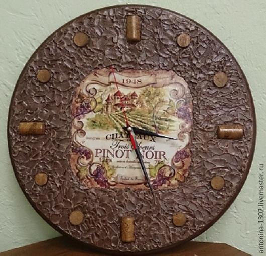 Часы для дома настенные ручной работы . Горбатюк Антонина. Ярмарка мастеров