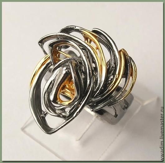 Кольца ручной работы. Ярмарка Мастеров - ручная работа. Купить Кольцо из серии Фантазии. Handmade. Кольцо, рутений