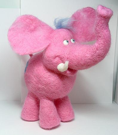 Игрушки животные, ручной работы. Ярмарка Мастеров - ручная работа. Купить Необыкновенный Розовый слон. Handmade. Розовый слон, розовый
