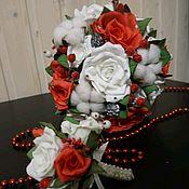 Букеты ручной работы. Ярмарка Мастеров - ручная работа Букет невесты и бутоньерка. Handmade.