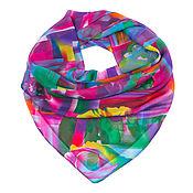Материалы для творчества handmade. Livemaster - original item Textile shawl 70*70 cm.