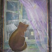 Картины и панно ручной работы. Ярмарка Мастеров - ручная работа картины Батик с вышивкой. Handmade.
