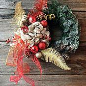 Подарки к праздникам ручной работы. Ярмарка Мастеров - ручная работа Венок новогодний Перо жар-птицы. Handmade.