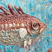 Картина 3D. Рыба колючая