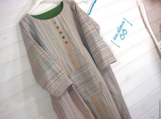 Платья ручной работы. Ярмарка Мастеров - ручная работа. Купить светлый мешок. Handmade. Бежевый, платье на заказ, лён