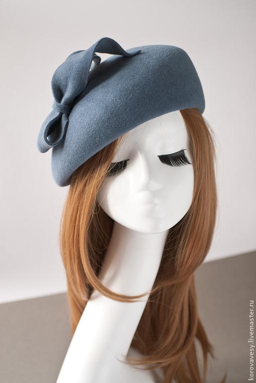 """Шляпы ручной работы. Ярмарка Мастеров - ручная работа. Купить Английский берет """"Грейс"""". Handmade. Серый, английский стиль"""