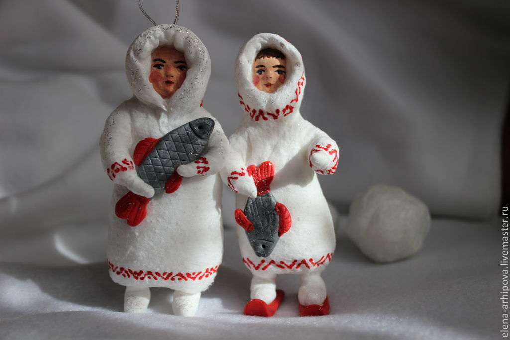 Игрушки новогодние из ваты