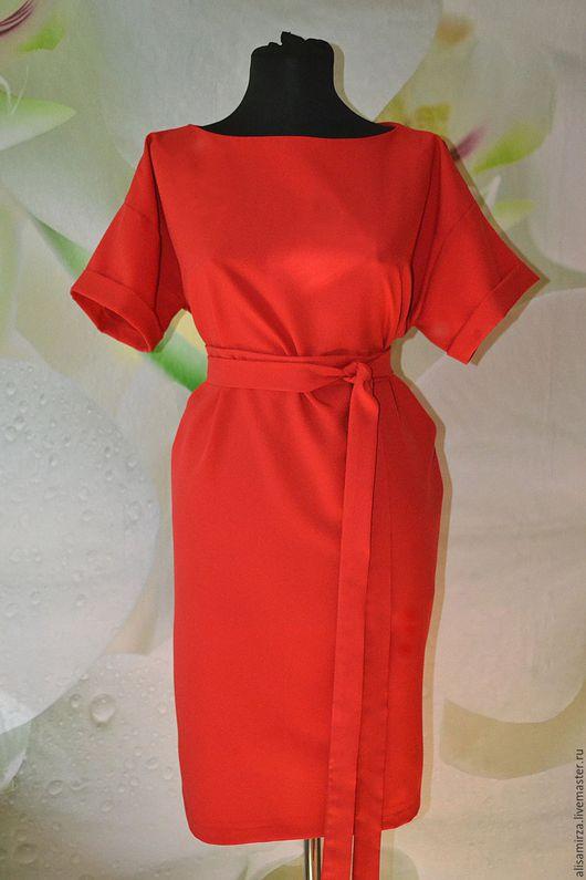 Платья ручной работы. Ярмарка Мастеров - ручная работа. Купить Многофункциональное платье. Handmade. Ярко-красный, габардин