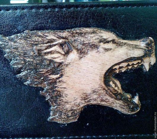 Сувениры ручной работы. Ярмарка Мастеров - ручная работа. Купить Оскал волка. Handmade. Чёрно-белый, лаковая миниатюра