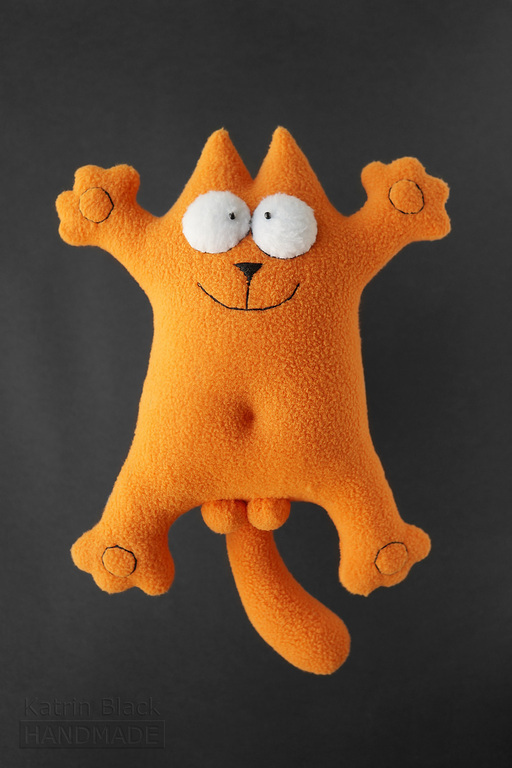 Игрушки животные, ручной работы. Ярмарка Мастеров - ручная работа. Купить Мягкая игрушка кот Саймон рыжий. Handmade. Рыжий