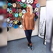 Одежда ручной работы. Ярмарка Мастеров - ручная работа Джемпер вязаный №150 из 100% итальянского хлопка. Handmade.