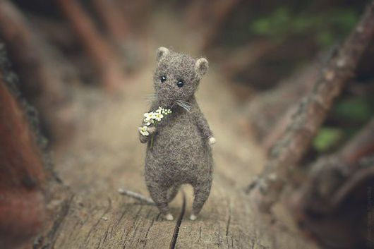 """Игрушки животные, ручной работы. Ярмарка Мастеров - ручная работа. Купить """"Хранитель Леса"""".. Handmade. Серый, крыс, игрушка из шерсти"""