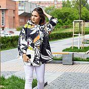 Одежда handmade. Livemaster - original item Summer cotton jacket bright large flowers. Handmade.