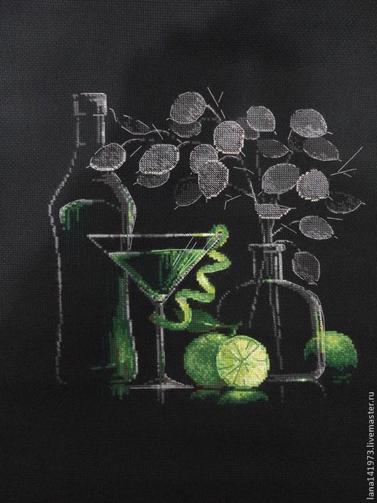 """Натюрморт ручной работы. Ярмарка Мастеров - ручная работа. Купить """"Натюрморт с мартини""""или """"Натюрморт с лимоном"""". Handmade. Натюрморт, лайм"""