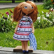Куклы и игрушки ручной работы. Ярмарка Мастеров - ручная работа Кукла-тыквоголовка Марина. Handmade.