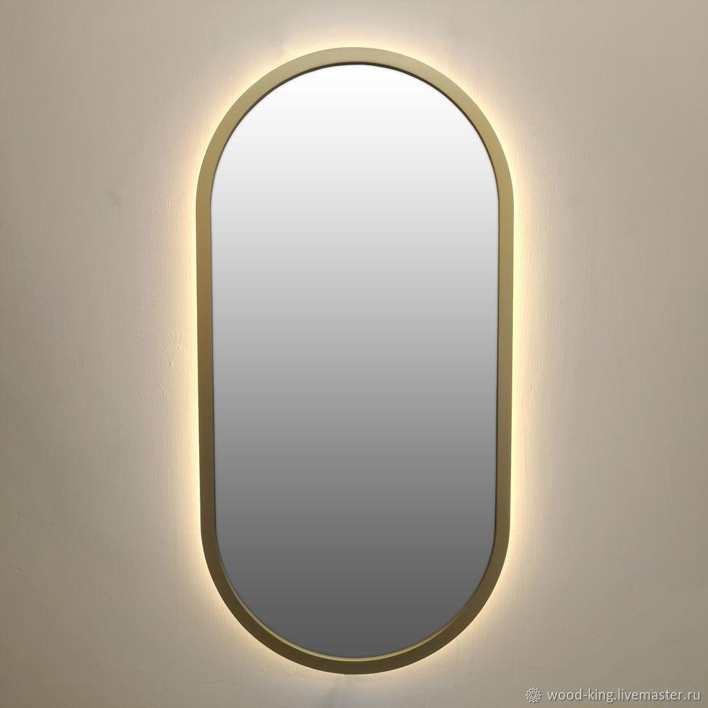 Овальное зеркало Латунь с подсветкой – заказать на Ярмарке Мастеров – J0K5RRU | Зеркала, Москва