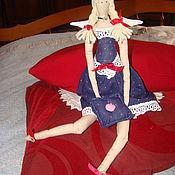 Куклы и игрушки ручной работы. Ярмарка Мастеров - ручная работа Тильда в синем поатье. Handmade.