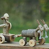Куклы и игрушки ручной работы. Ярмарка Мастеров - ручная работа Тор в повозке - деревянная игрушка. Handmade.