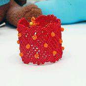 Украшения ручной работы. Ярмарка Мастеров - ручная работа Широкий плетеный браслет. Handmade.