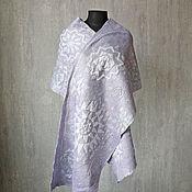 Аксессуары handmade. Livemaster - original item Silver felted Stole. Handmade.