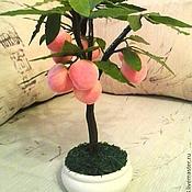 """Цветы и флористика ручной работы. Ярмарка Мастеров - ручная работа Бонсай """"Персиковое дерево"""". Handmade."""