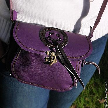 """Сумки и аксессуары ручной работы. Ярмарка Мастеров - ручная работа Фиолетовая кожаная сумочка """"Purple Beauty"""". Handmade."""