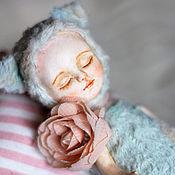 Куклы и игрушки ручной работы. Ярмарка Мастеров - ручная работа Тедди-долл спящая Кошечка. Handmade.