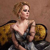 Свадебный салон ручной работы. Ярмарка Мастеров - ручная работа Свадебное платье чёрное с кремовым. Handmade.
