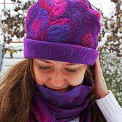 Аксессуары handmade. Livemaster - original item Felted set: hat and scarf