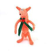 Куклы и игрушки ручной работы. Ярмарка Мастеров - ручная работа игрушка Лисенок и сердце (день всех влюбленных, подарок). Handmade.