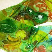 """Аксессуары ручной работы. Ярмарка Мастеров - ручная работа Шарф """"Тропические фрукты"""". Handmade."""
