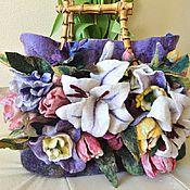 Сумки и аксессуары handmade. Livemaster - original item felted bag with flowers. Handmade.