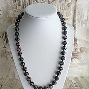 Работы для детей, handmade. Livemaster - original item beads: Murano glass beads black. Handmade.