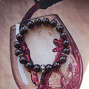 Браслет из бусин ручной работы. Ярмарка Мастеров - ручная работа Гранатовый браслет. Handmade.