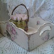 Для дома и интерьера handmade. Livemaster - original item Tray shabby Roze. Handmade.