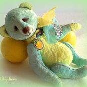 Куклы и игрушки ручной работы. Ярмарка Мастеров - ручная работа Авторский мишка тедди Лимонный Мохито. Handmade.
