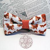 Аксессуары handmade. Livemaster - original item Tie Squirrel/ squirrel/ red squirrel/ butterfly with squirrels. Handmade.