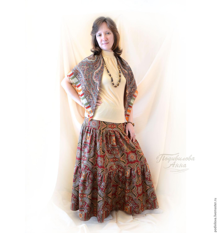 Как сшить длинную юбку из сатина