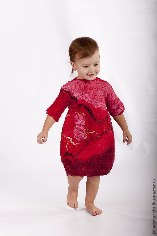 Одежда для девочек, ручной работы. Ярмарка Мастеров - ручная работа. Купить Платье для девочки.. Handmade. Ярко-красный, одежда для девочки