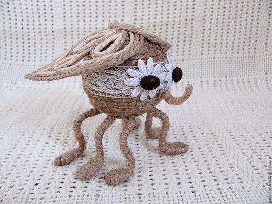 Игрушки животные, ручной работы. Ярмарка Мастеров - ручная работа. Купить Муха Цокотуха (игрушка, джут, сувенир). Handmade. Комбинированный