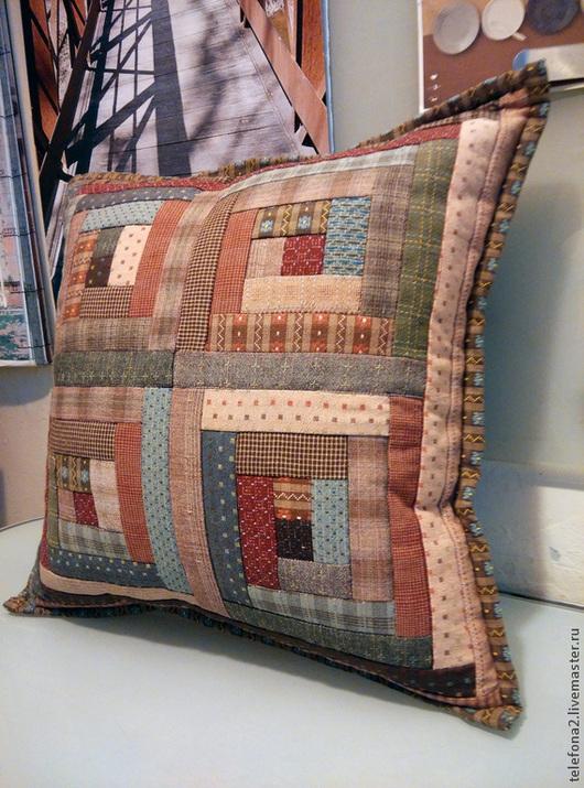 """Текстиль, ковры ручной работы. Ярмарка Мастеров - ручная работа. Купить Лоскутная наволочка  """"В Японском стиле"""". Handmade."""