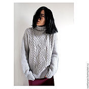 Одежда handmade. Livemaster - original item Gray MOOD knitted sweater made of Italian Merino wool. Handmade.