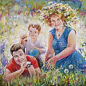Картины и панно ручной работы. Ярмарка Мастеров - ручная работа Семейный портрет по фото. Handmade.