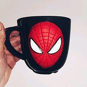 Кружки ручной работы. Ярмарка Мастеров - ручная работа Кружка с человеком-пауком. Handmade.