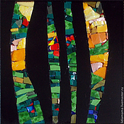Картины и панно handmade. Livemaster - original item Mosaic. Sunset in the forest. Handmade.