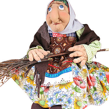Куклы и игрушки ручной работы. Ярмарка Мастеров - ручная работа Баба-Яга костяная нога. Handmade.
