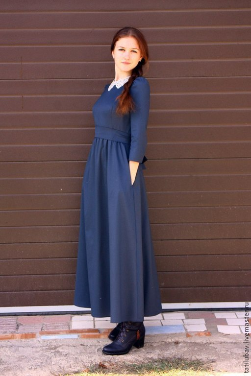 Платья ручной работы. Ярмарка Мастеров - ручная работа. Купить Платье длинное в романтическом стиле. Handmade. Пошив на заказ, dress