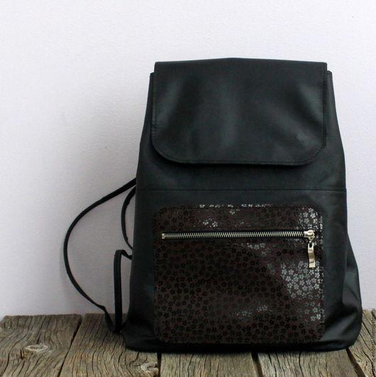 Кожаный рюкзак, рюкзак кожаный, женский рюкзак, купить черный рюкзак, натуральная кожа. Мастер Сечкина Юлия http://www.livemaster.ru/v-dome-radosti