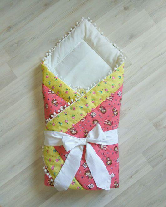 """Для новорожденных, ручной работы. Ярмарка Мастеров - ручная работа. Купить Конверт на выписку """"карамелька"""". Handmade. Конверт, одеяло, для новорожденного"""